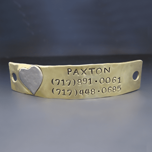 Personalized Noiseless <br>Dog Tag Puppy Plate