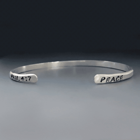 Personalized Thin Nickel Silver Cuff