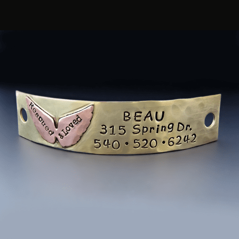 Angel Wing Dog Tag <br> for Rescue Dogs