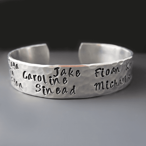Personalized Silver Mother's <br>Bracelet {Children's Names}