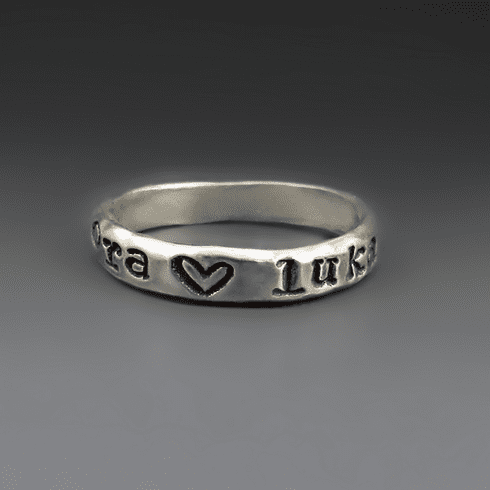 Personalized Stacking Name Ring