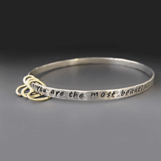 Personalized Sterling Heart Bangle