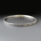 Personalized Sterling Silver Stacking Bangle