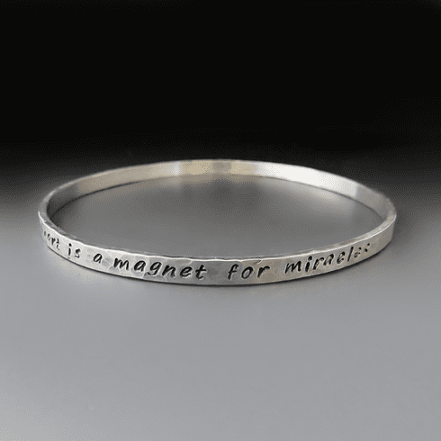 Personalized Sterling Silver <br>Stacking Bangle
