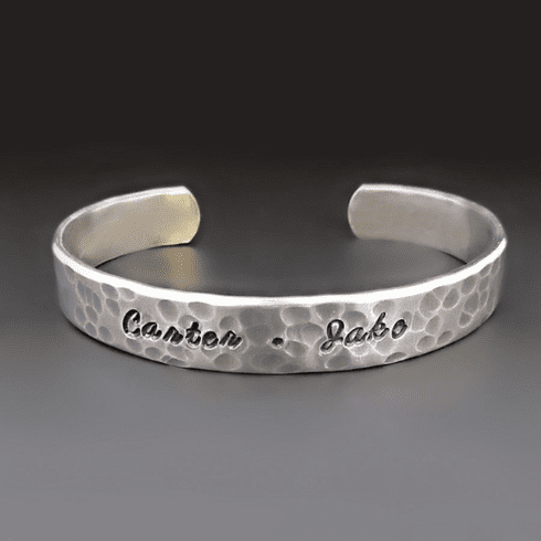Personalized STERLING SIVLER <br>Cuff Bracelet {3/8 inches wide}