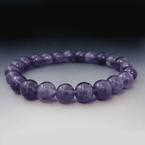 Purple Amethyst Gemstone Bracelet