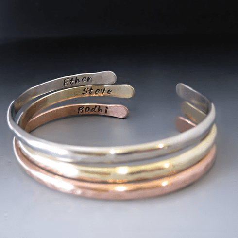 Set/3 Personalized Stacking Bracelets