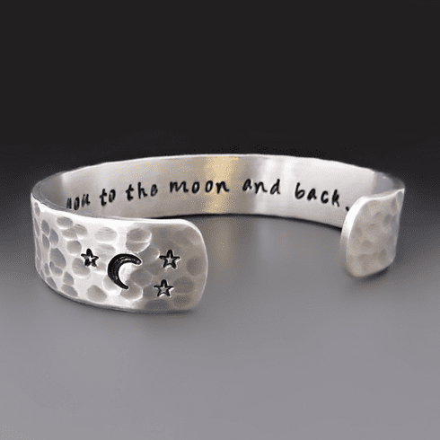 Silver I Love You To The Moon and Back Bracelet