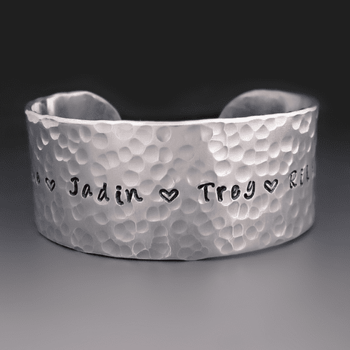 Silver Personalized Mother's <br>Bracelet {Children's Names}