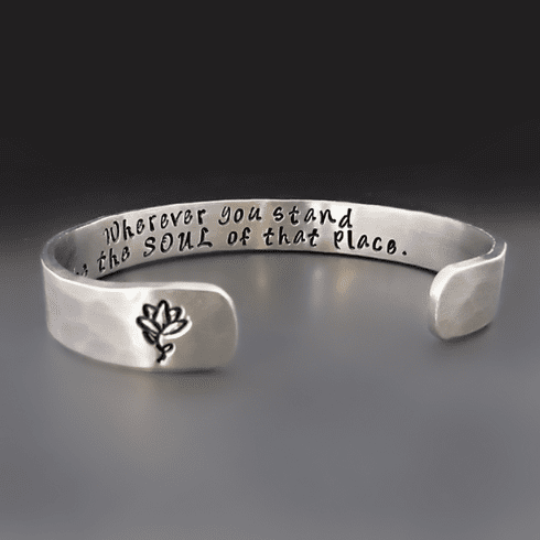 The Soul Of That Place Silver Bracelet