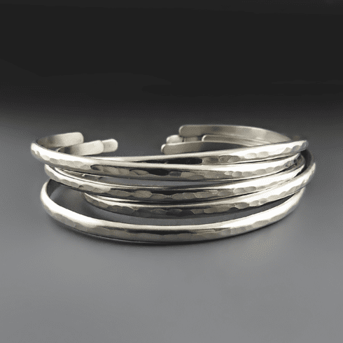 Silver Skinnies - Stacking Bracelets