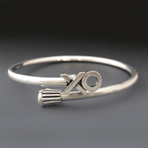 Sterling Silver X's and O's Bracelet