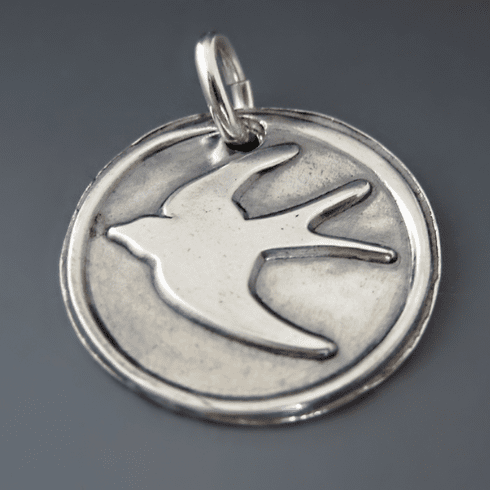 Sterling Silver Swallow Charm {New Beginnings}