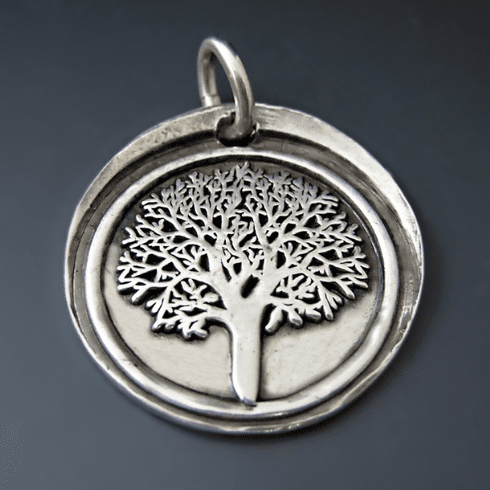 Sterling Silver Tree of Life Pendant {Family / Strength}
