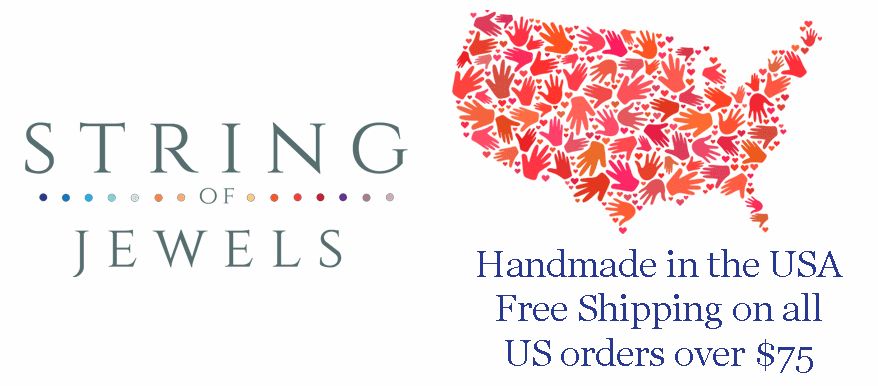 String of Jewels - Personalized Hand Stamped Jewelry