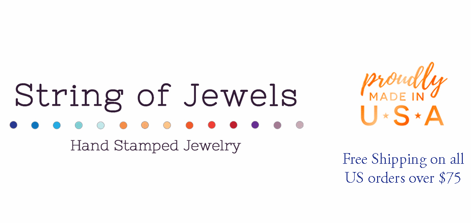 Personalized Jewelry | Hand Stamped Jewelry with Meaning | String of Jewels