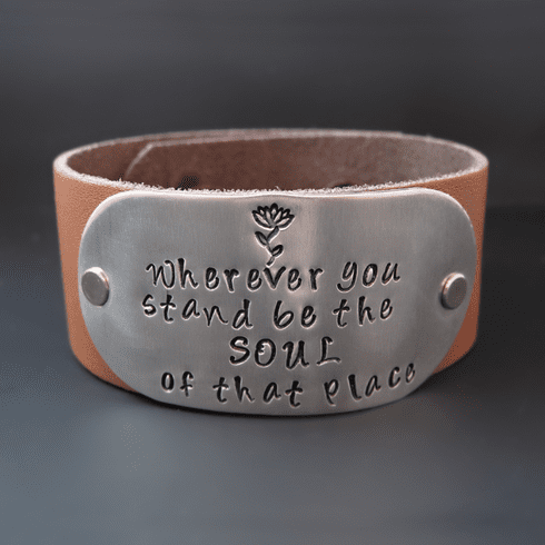 Wherever You Stand Leather Cuff