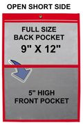 (#85501) 9x12 Sewn Double Pocket Holder (25 Pack)