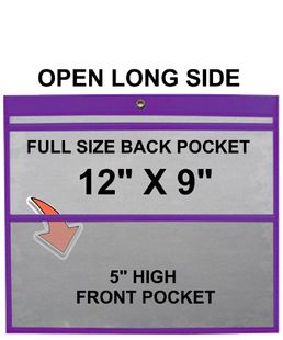 (#85512) 12x9 Sewn Double Pocket Holder (25 Pack)