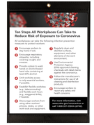 OSHA Poster - 10 Steps to Reduce COVID-19 Risk