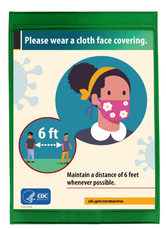 CDC Poster Asking Visitors to Wear Face Mask Before Entering