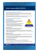 OSHA Poster - Worker Exposure Risk to COVID-19