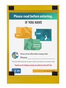 CDC Front Door Poster for Medical Clinics