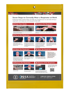 OSHA Poster - 7 Steps to Correctly Wear a Respirator at Work