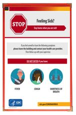 CDC Poster 11x17 - Stay Home if Sick Reminder