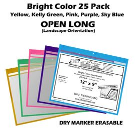 (TIE0912L-ABC) 9 x 12 Assorted Color Pack