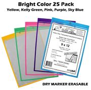 (TIE0912S-ABC) 9 x 12 Assorted Color Pack