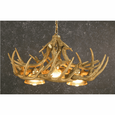10 Antler Whitetail Deer Antler Chandelier - Cast Antler Chandelier