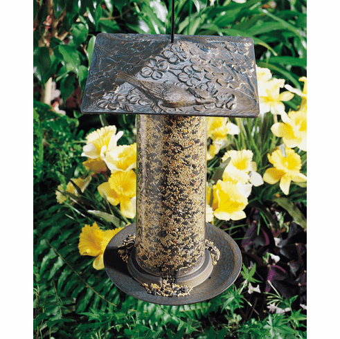 "12"" Cardinal Tube Bird Feeder"