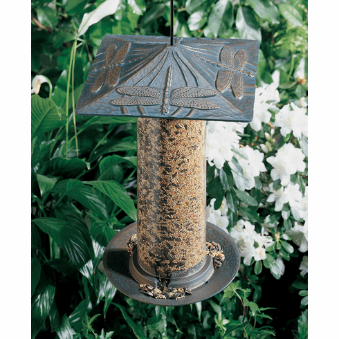 "12"" Dragonfly Tube Bird Feeder"