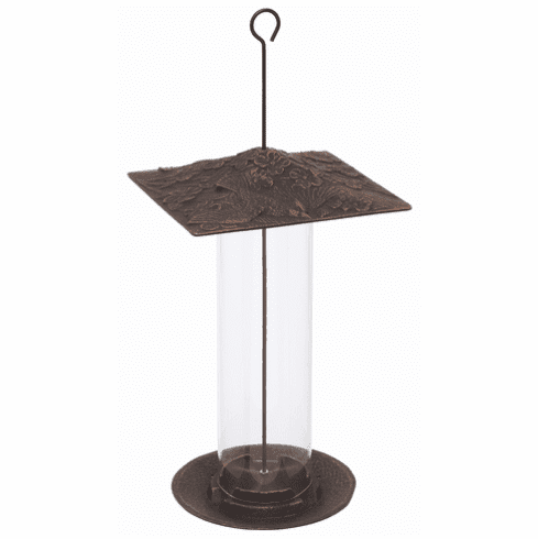 12 inches Cardinal Tube Feeder - Oil-Rubbed Bronze