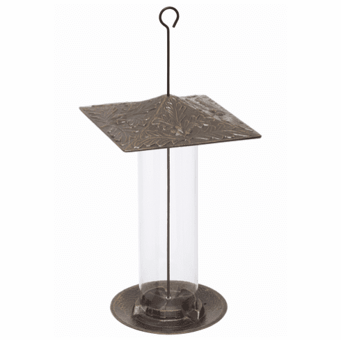 12 inches Oakleaf Tube Feeder - French Bronze