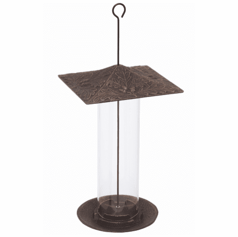 12 inches Oakleaf Tube Feeder - Oil-Rubbed Bronze