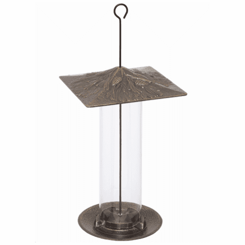12 inches Pinecone Tube Feeder - French Bronze