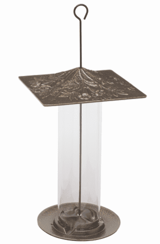 12 inches Trumpetvine Tube Feeder - French Bronze
