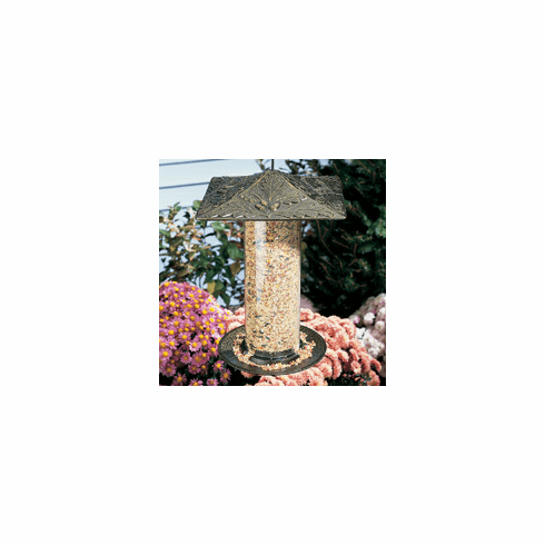 "12"" Oak Leaf Tube Bird Feeder"