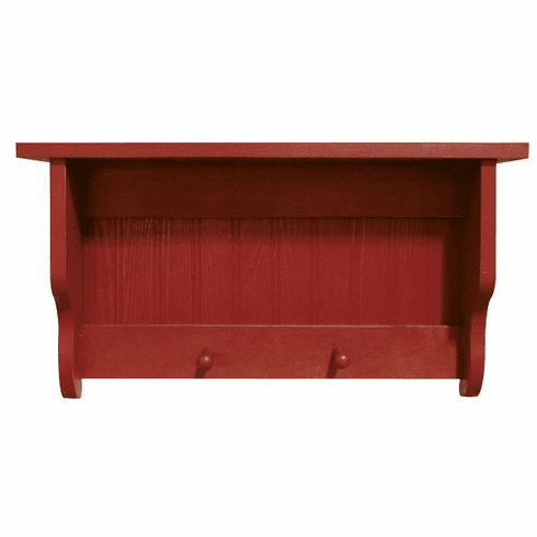2 Foot Peg Shelf - Cottage Beadboard Shelf