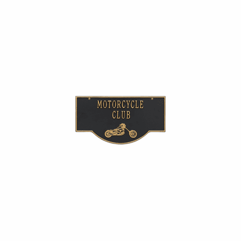 2-Sided Hanging Garage Plaque in Several Motifs, Black and Gold