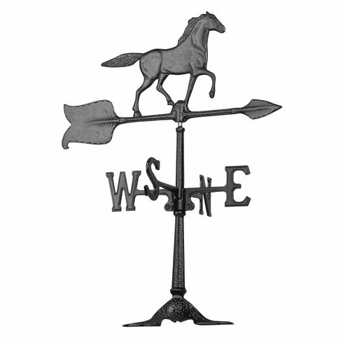 24 inches Horse Accent Weathervane - Black