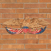 24 inches Patriotic Wall Eagle - Multi Color
