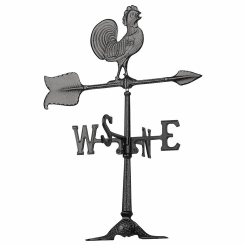 24 inches Rooster Accent Weathervane - Black