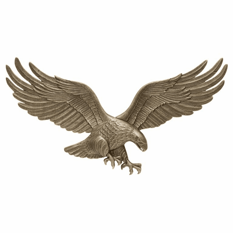 29 inches Wall Eagle - Antique Brass