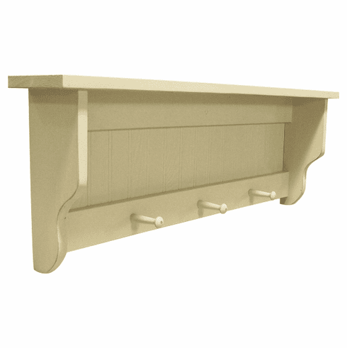 3 Foot Beadboard Peg Shelf - Wood Book Shelf
