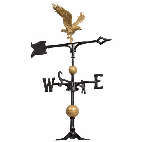 30 inches Full-Bodied Eagle Weathervane - Gold-Bronze