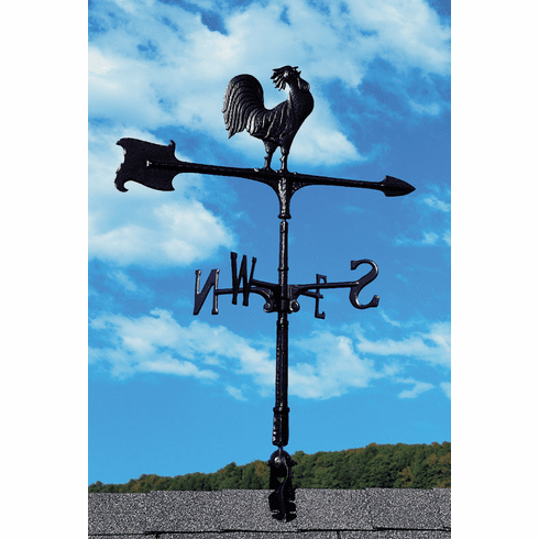 "30"" Rooster Weathervane - Crowing Rooster"
