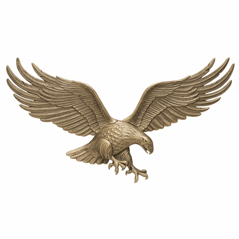 36 inches Wall Eagle - Antique Brass